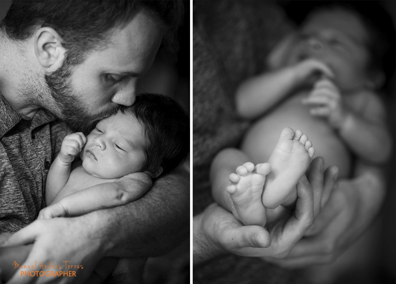 father and son intimate portraits